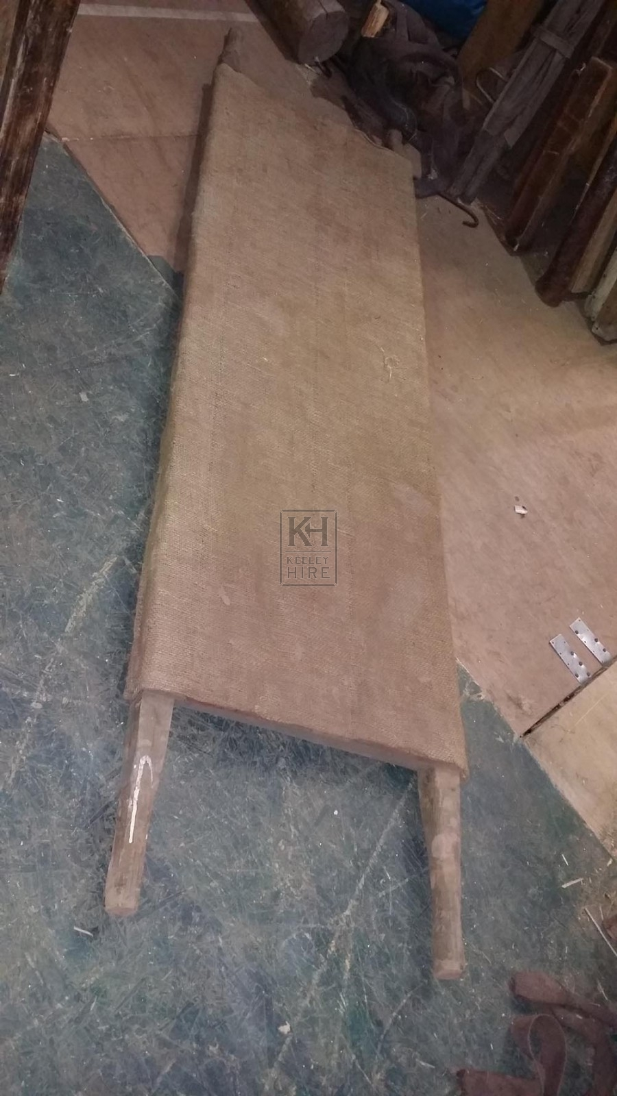 Hessian covered stretcher
