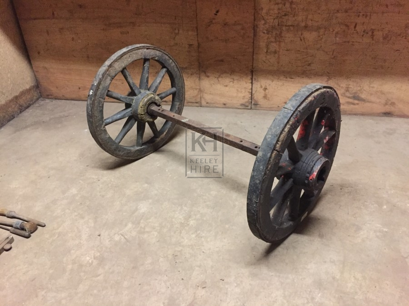 Small Barrow Wheels on Axle
