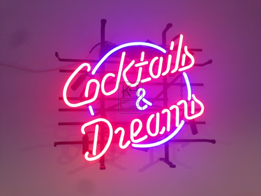 Cocktails and Dreams Neon Sign