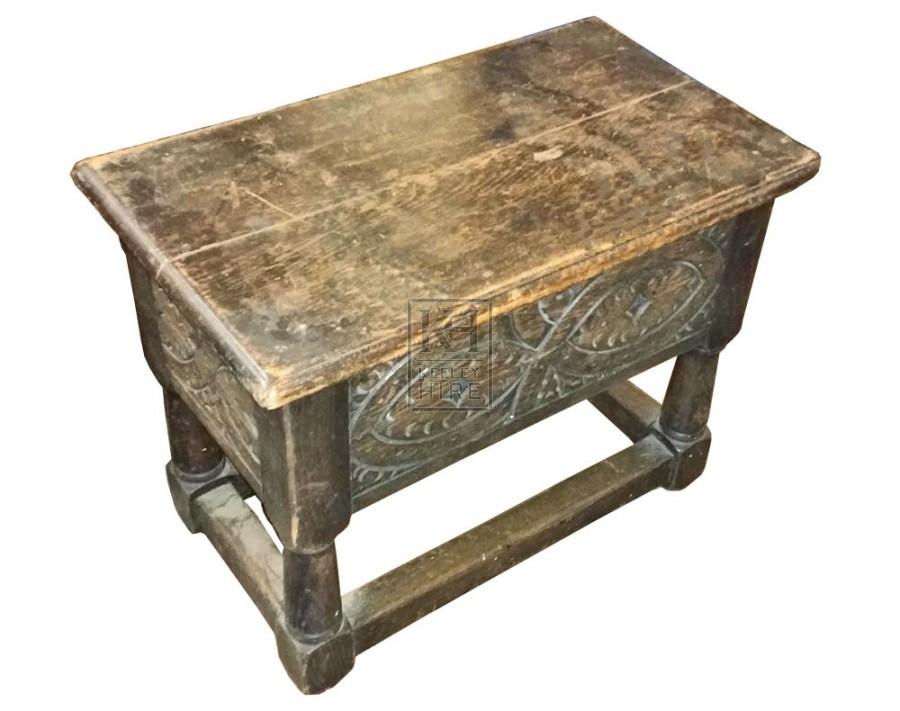 Dark wood carved stool