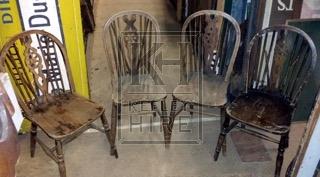 Wheel back wood chair
