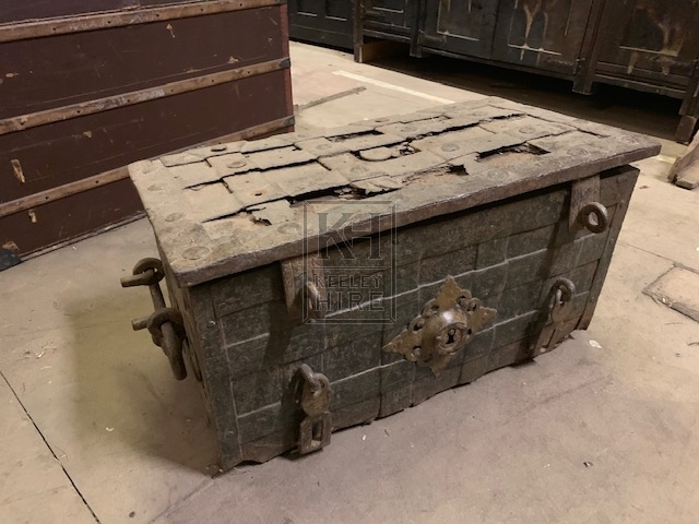 Large iron strong box