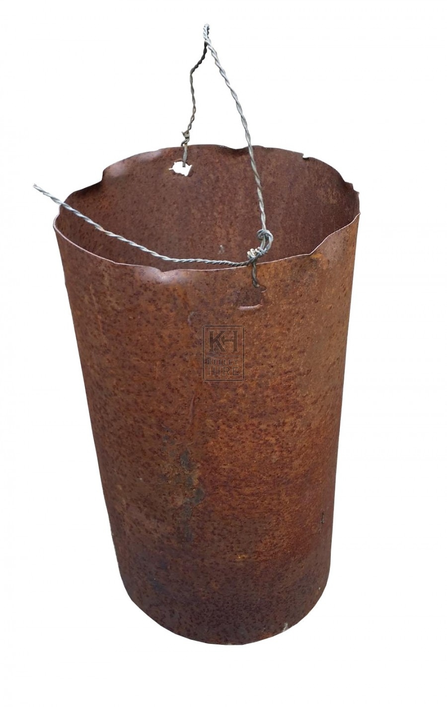 Rusty metal drum