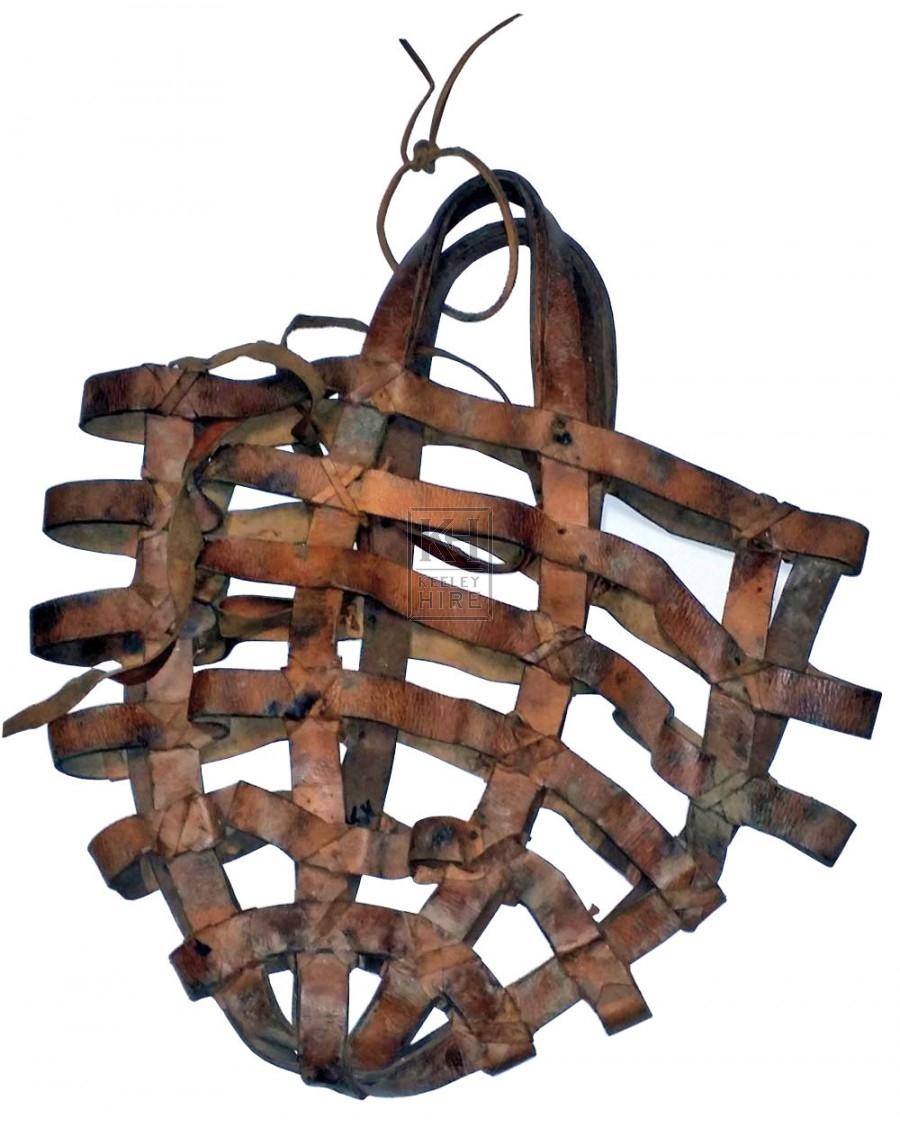 Leather boulder bag