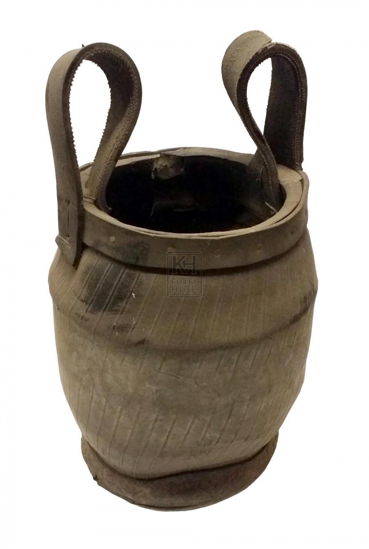 Black rubber bucket