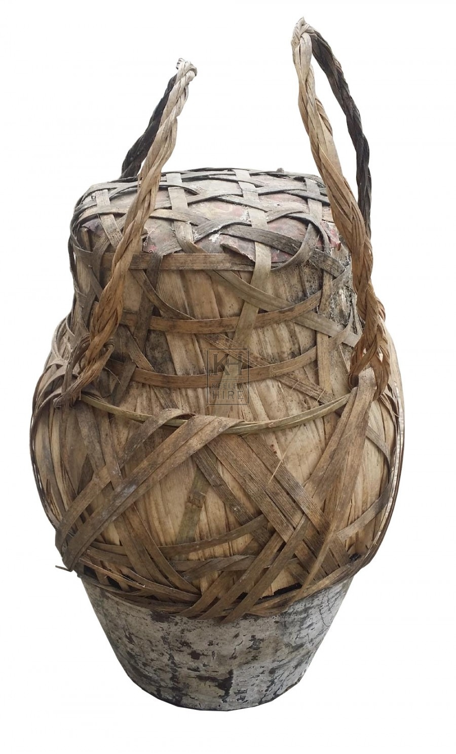 Woven pots in reed