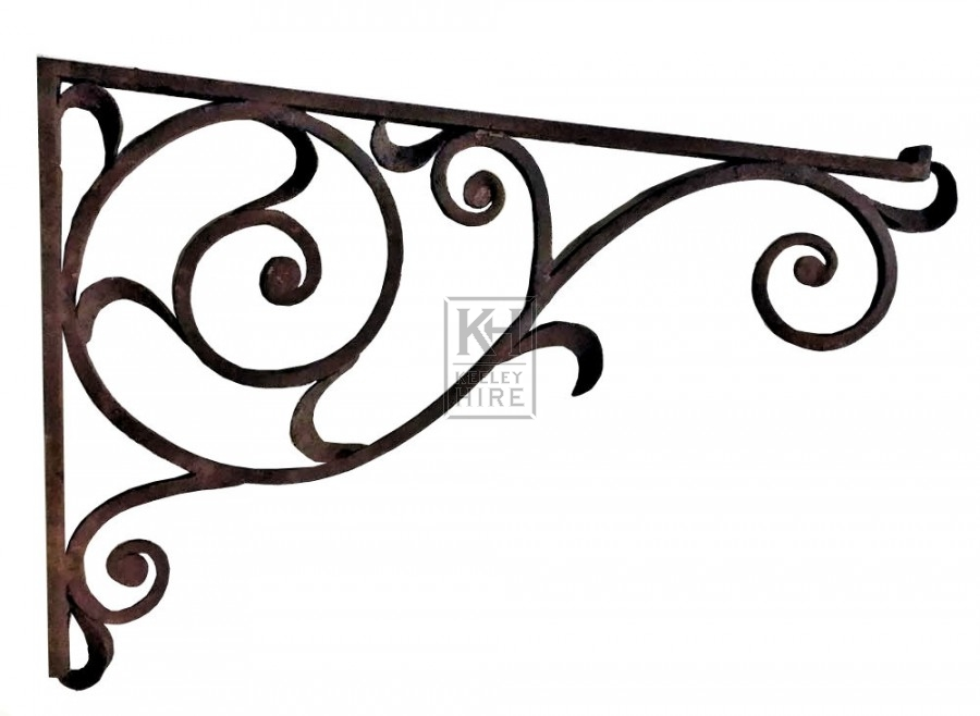 Rusty iron scroll bracket