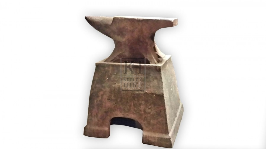 Heavy iron anvil with stand