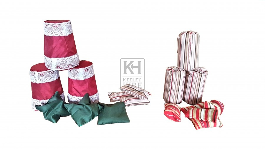 Beanbags & Tins for fairground