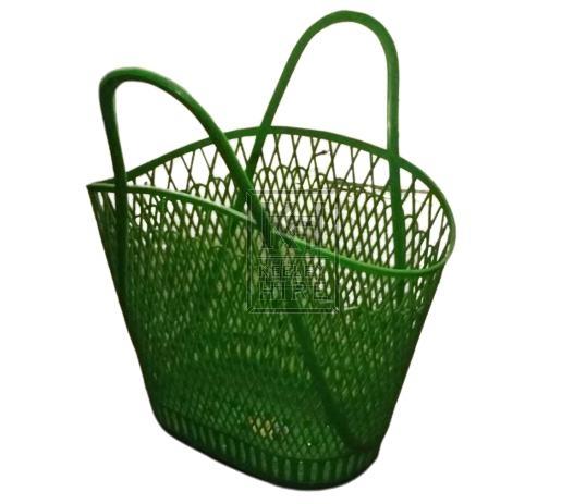 Plastic basket green