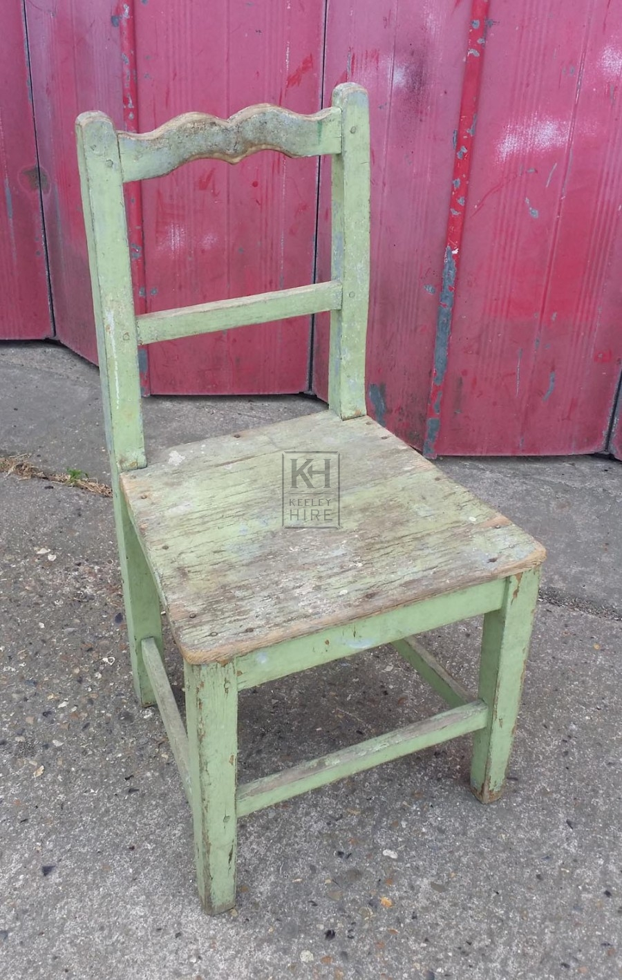 Faded green painted chair