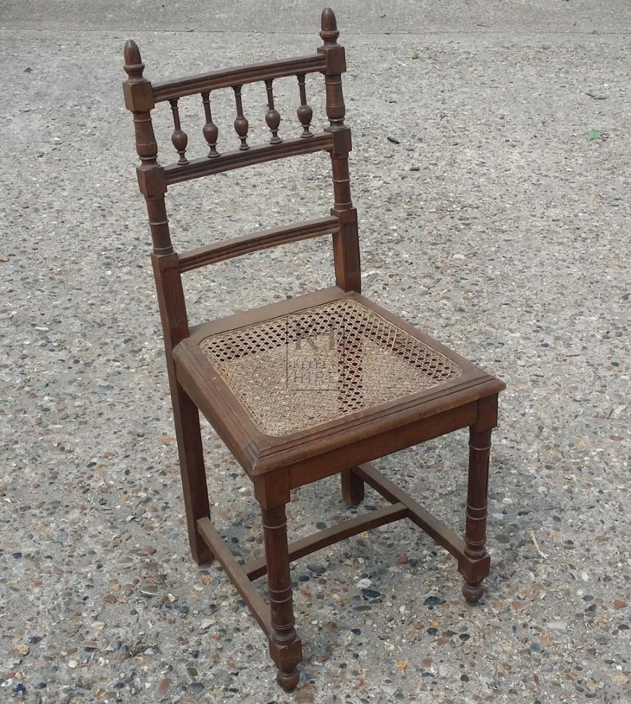 Chairs Prop Hire Carved Wood Chair With Woven Seat Keeley Hire