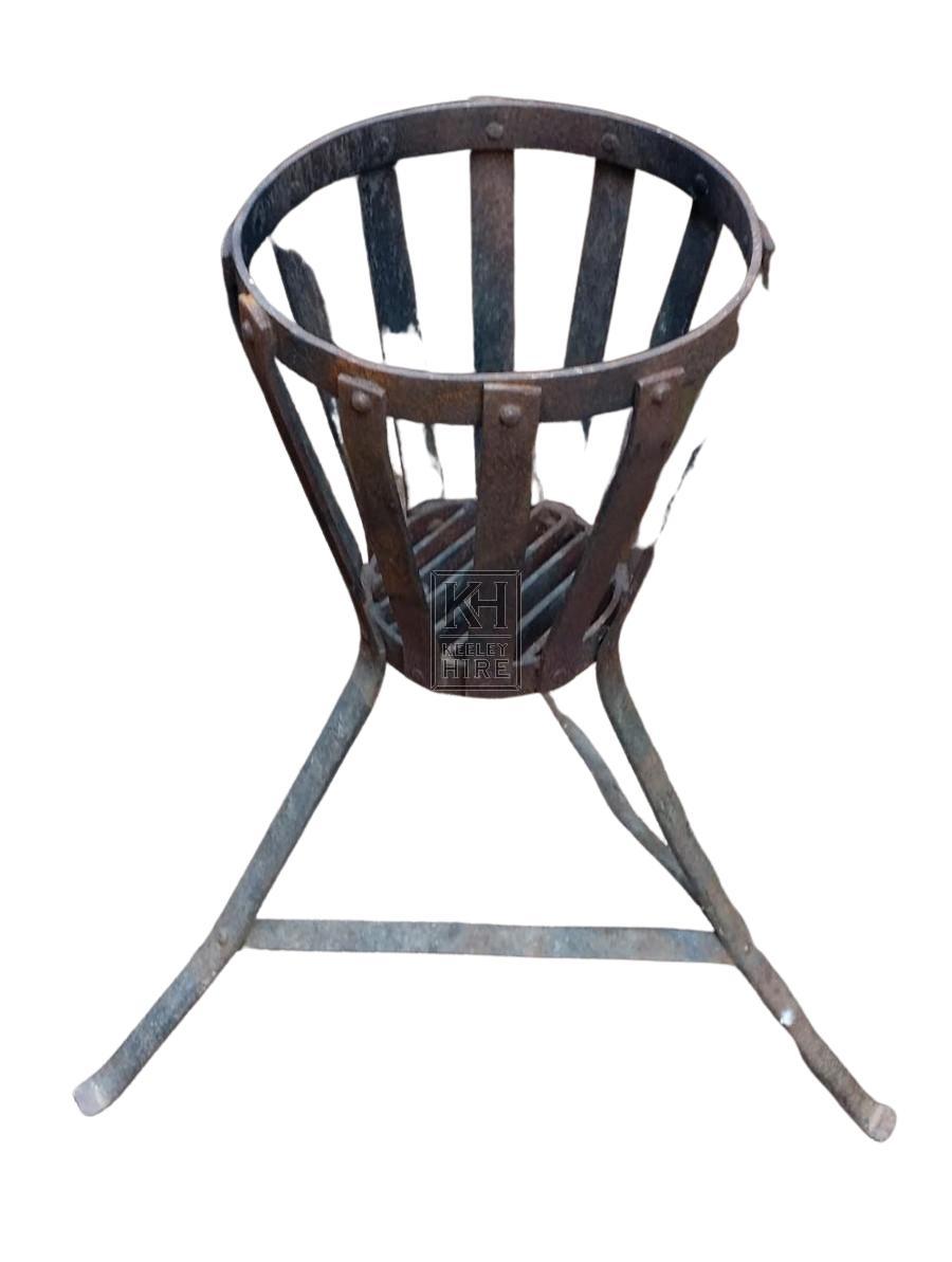 Iron brazier with splayed legs