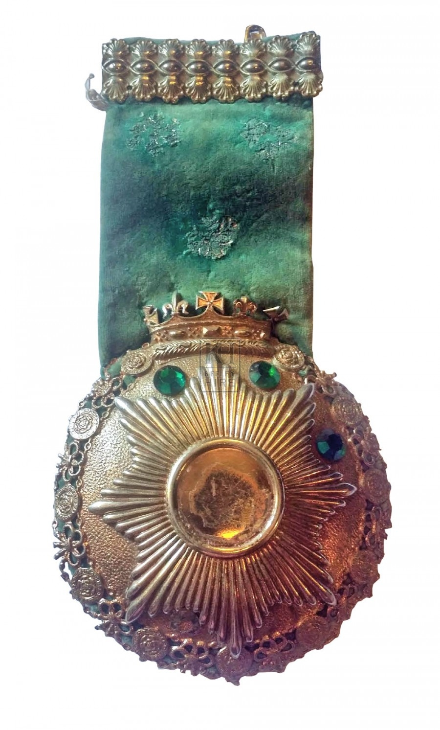 Silver pendant on velvet