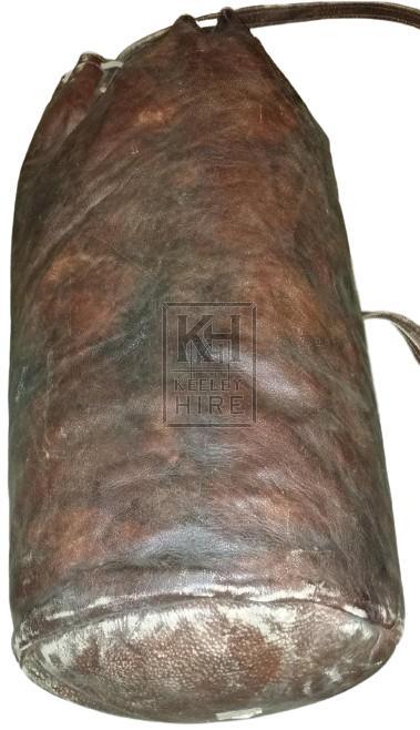 Large leather sack
