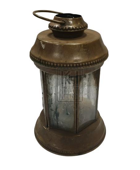 Round period copper lantern