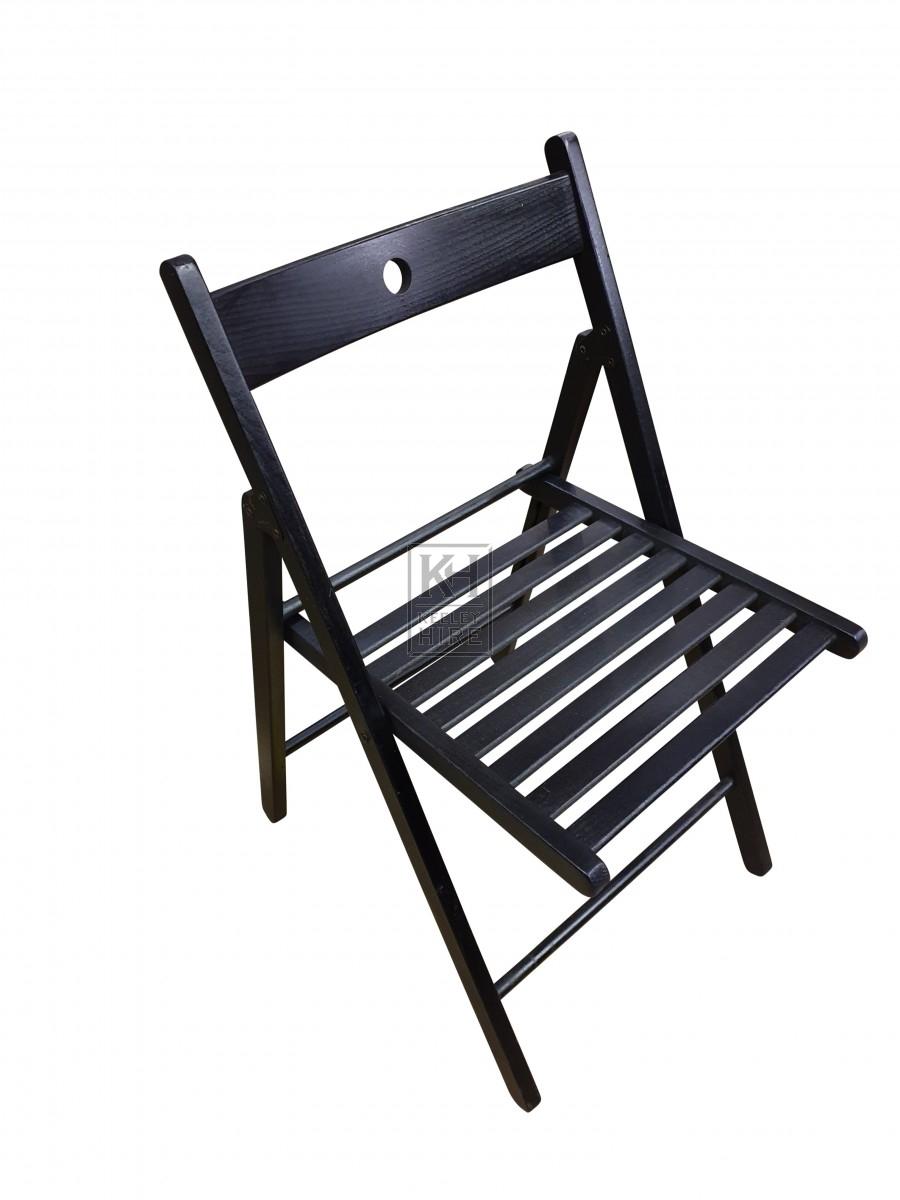 Black Fold-Away Chair