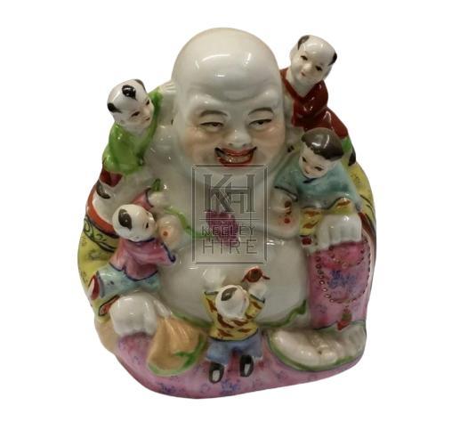 Painted china buddah statue