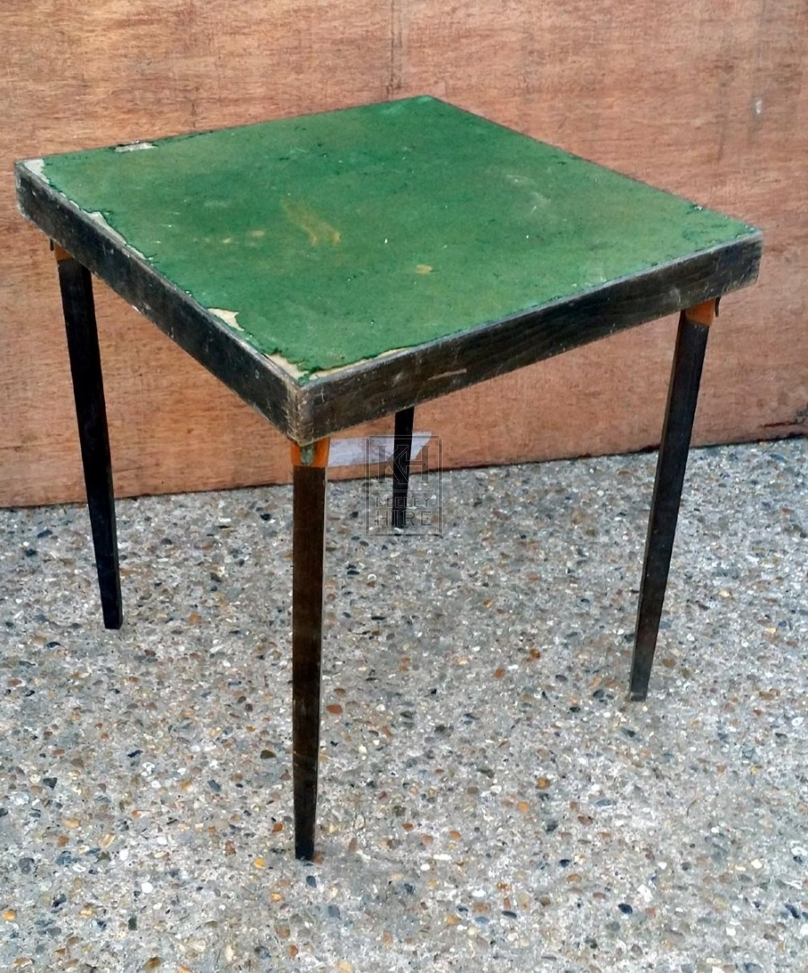 Small games table with green felt