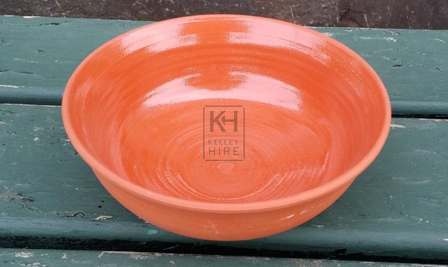 Light brown ceramic bowl