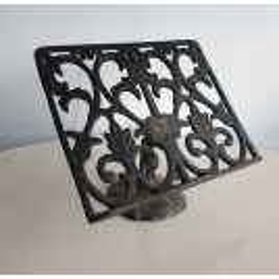 Cast iron ornate book stand