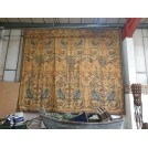 Large square tapestry Swans & Cherubs