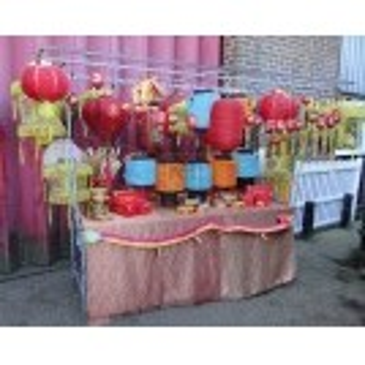Chinese lantern market stall