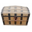 Large Dome Top Wood Chest