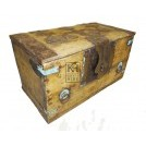 Flat top light chest with brass