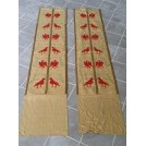 Long narrow embroided banner