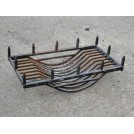 Iron Spiked Fire grate with 2 dogs