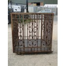 Large Iron Animal Cage with Ornate Front