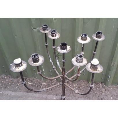 9-light iron candelabra