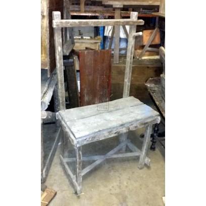 Blacksmiths Wood Work Bench With Rack