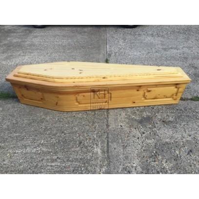 Light Wood Coffin