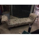 Floral Pattern Double End Chaise Lounge