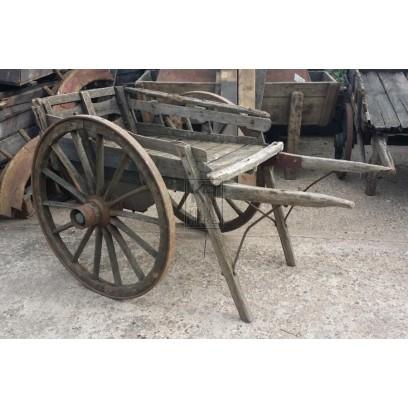 2-wheel slatted farm cart