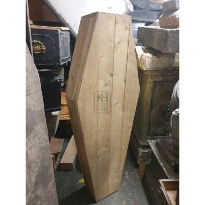Plain wood new coffin